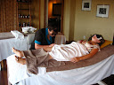 Lora and I both got a massage at Ulusaba's spa and it was really cool... Lora's included a mani/pedi.