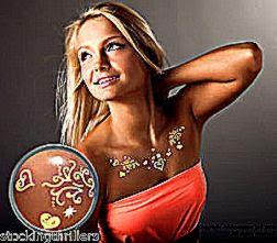 Addttoo Luxury Gold Silver Swarovski Crystal Body Art Jewellery