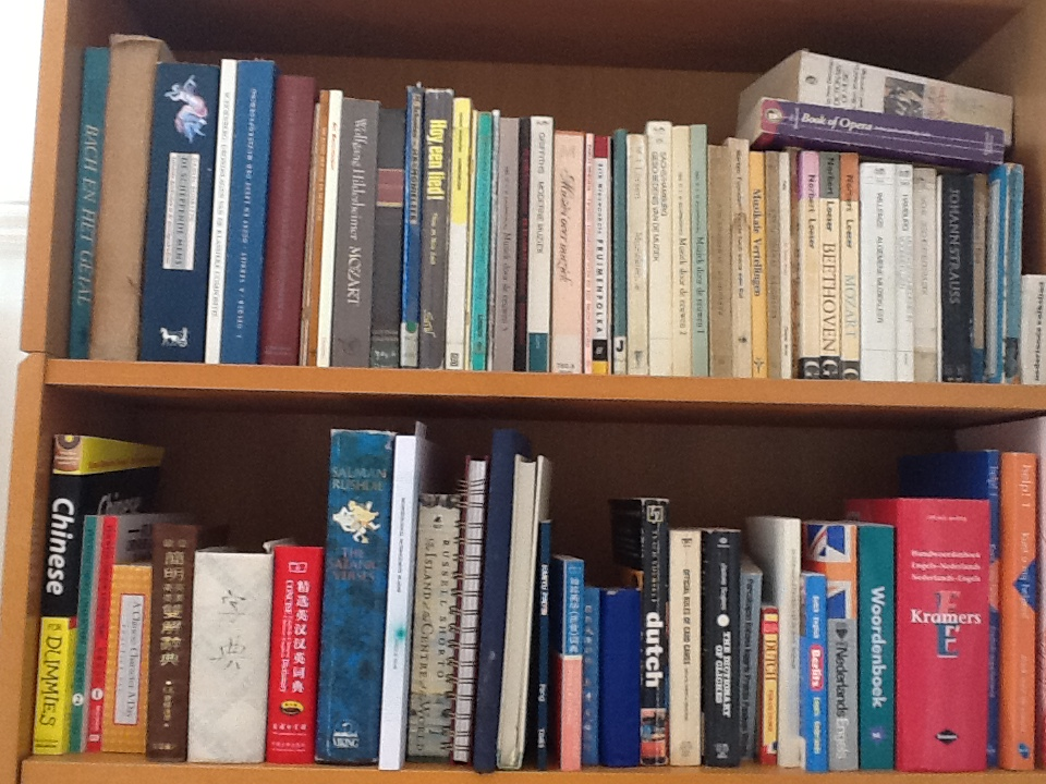 Books on bookshelf for sale