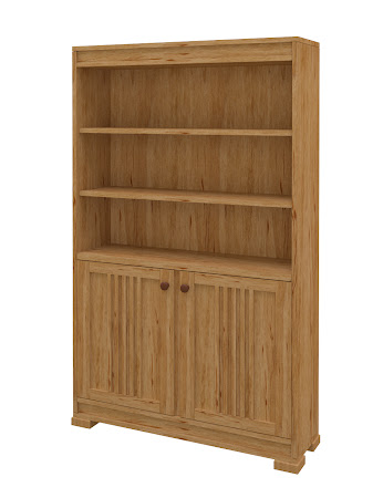 Hillside Wooden Door Bookshelf in Classical Maple