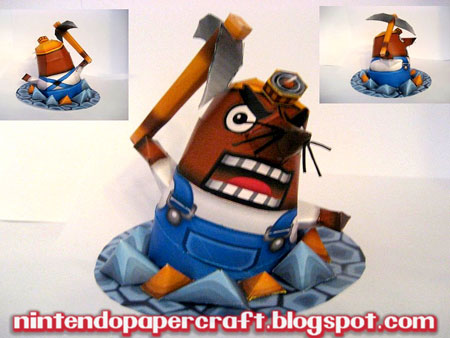 Super Smash Bros Brawl Mr Resetti Papercraft