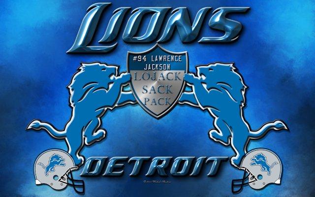 Lawrence Jackson Detroit Lions LoJack Sack Pack Wallpaper