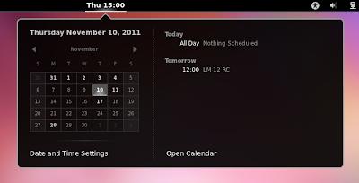 Google Calendar GNOME Shell Calendar
