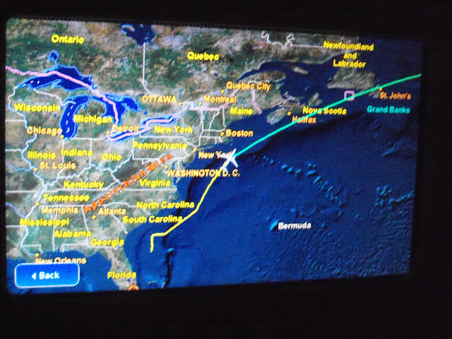Flying over the Atlantic!