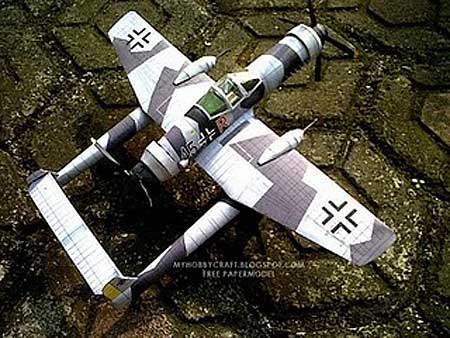 Junkers Ju EF112 Papercraft