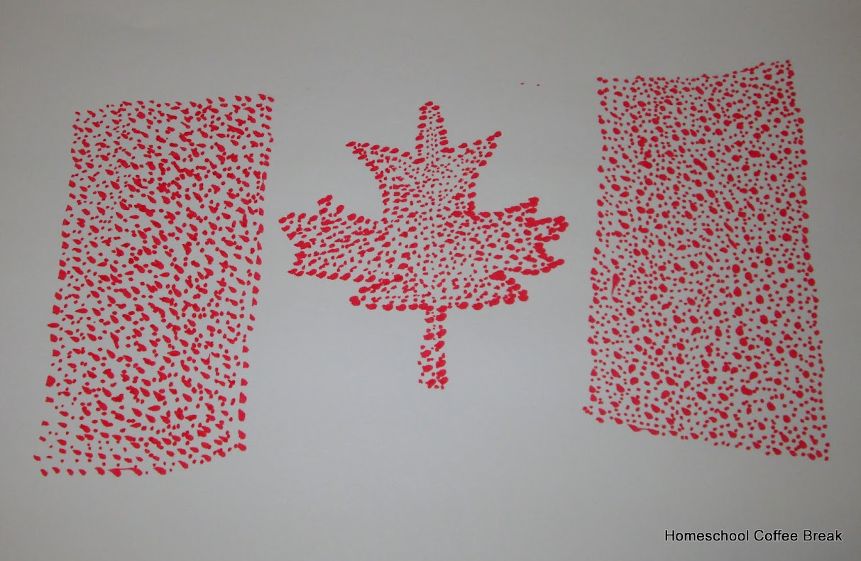 Canada Day on the #VirtualFridge - an art link-up hosted by Homeschool Coffee Break @ kympossibleblog.blogspot.com