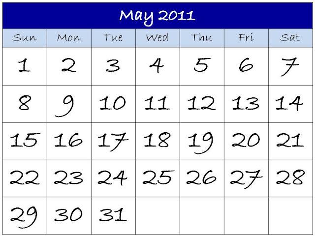 may 2011 printable calendar. Pop-up calendar pdf may insert