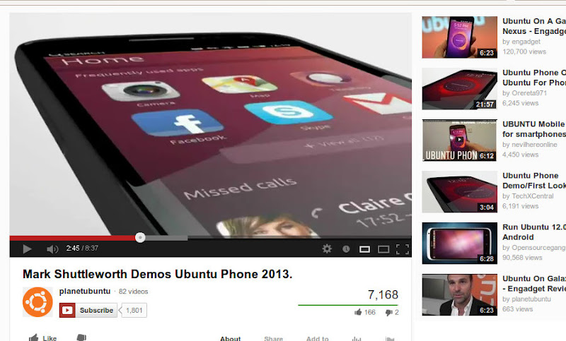 Mark Shuttleworth Demos Ubuntu Phone 2013