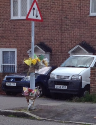 the area outside 93 launcelot road which marks the murder of a 16 year old boy stabbed to death