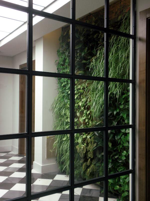 Jardín vertical de interior en Madrid