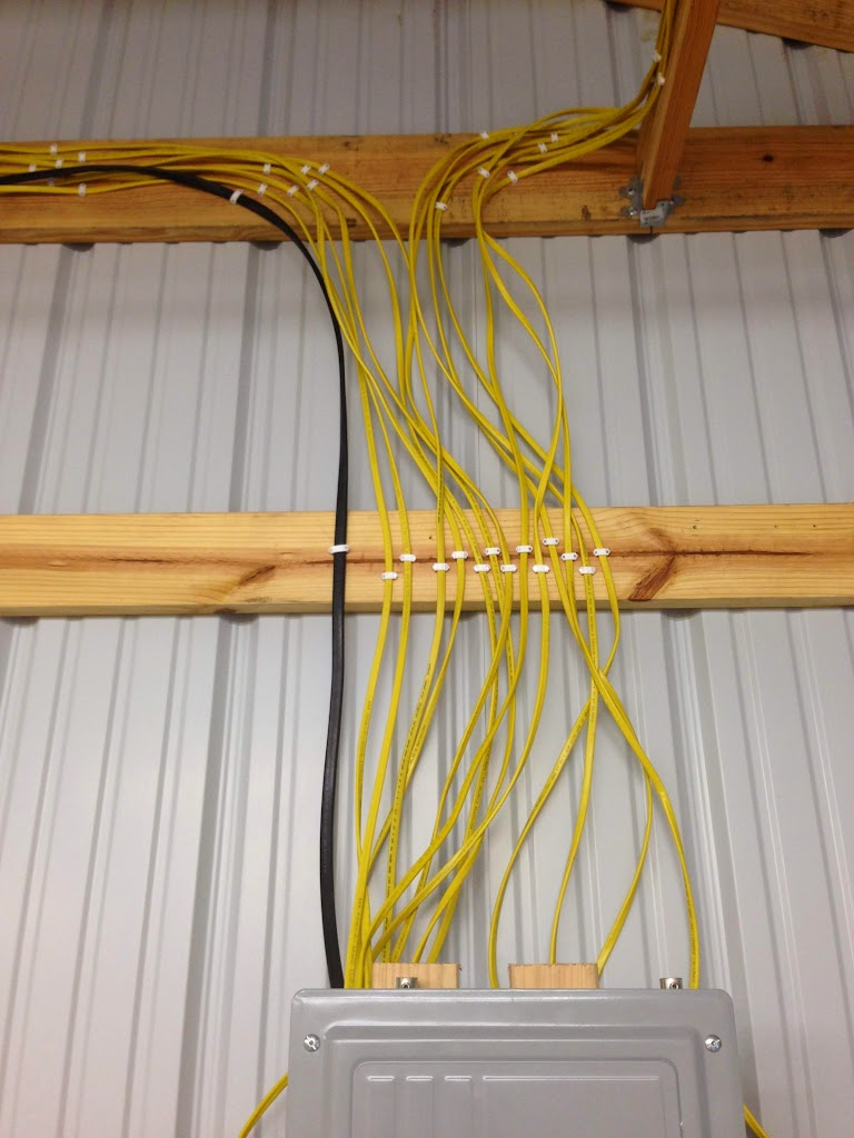 Wiring A Barn With Romex Diagrams Electrical New Pole Shop Progress Page 5 The Wood 14 2 Wire