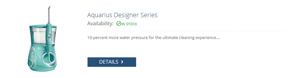waterpik aqua aquarius 660 water flosser