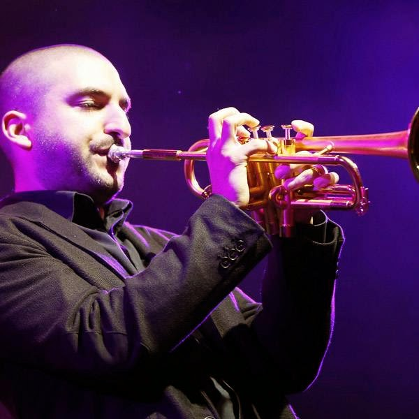 Lebanese trumpeter Ibrahim Maalouf performs on stage of the Nice Jazz Festival on July 9, 2014 in Nice, southeastern France.