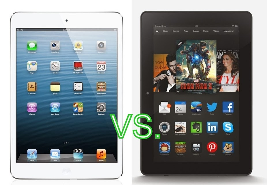 Amazon Kindle Fire HDX vs. Apple iPad