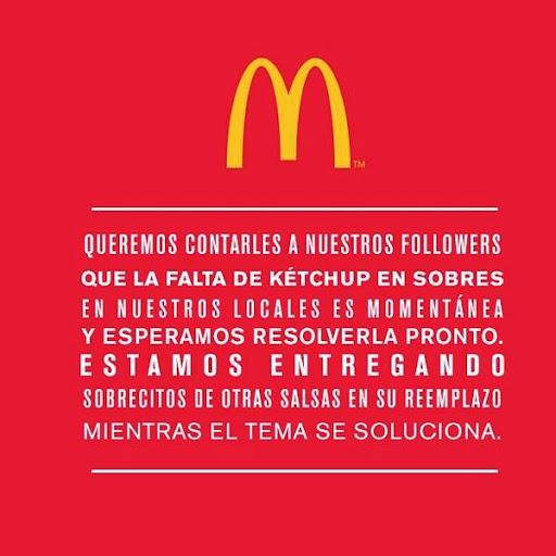 McDonald´s se queda sin Kétchup en Argentina