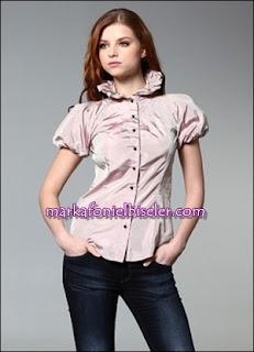 Alexander McQueen pembe gömlek