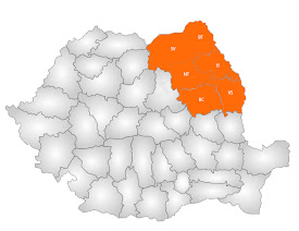 Varianta cu regiune formată din şase judeţe şi capitala la Iaşi
