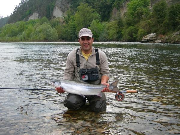 Anton con un Springer del Narcea/ Anton with a Springer Narcea River