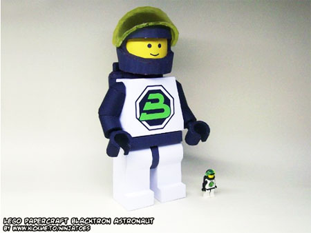 Blacktron II Future Generation Astronaut Papercraft