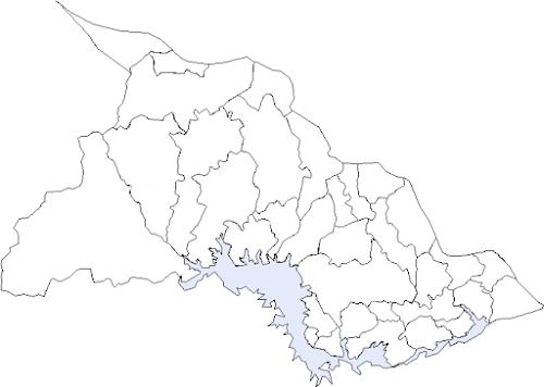 Mapa de Chalatenango con sus municipios para colorear
