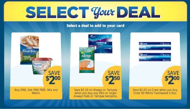 Kroger Select Your Deal E-Coupons