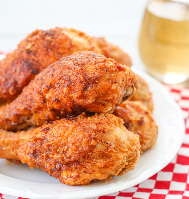 photo of a plate of hot chicken