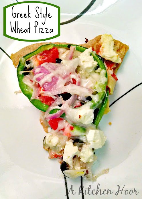 A Kitchen Hoor | #MeatlessMonday #Greek Style Wheat #Pizza