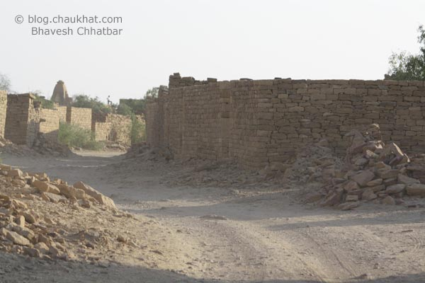 Kuldhara Village in Jaisalmer - Empty Street