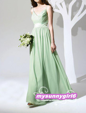 Wedding Dress Shops Manchester on Green Chiffon Prom Evening Wedding Bridesmaid Dress Size 8 22   Ebay