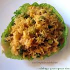 Cabbage peas rice- Ele kosu bataaNi bhath