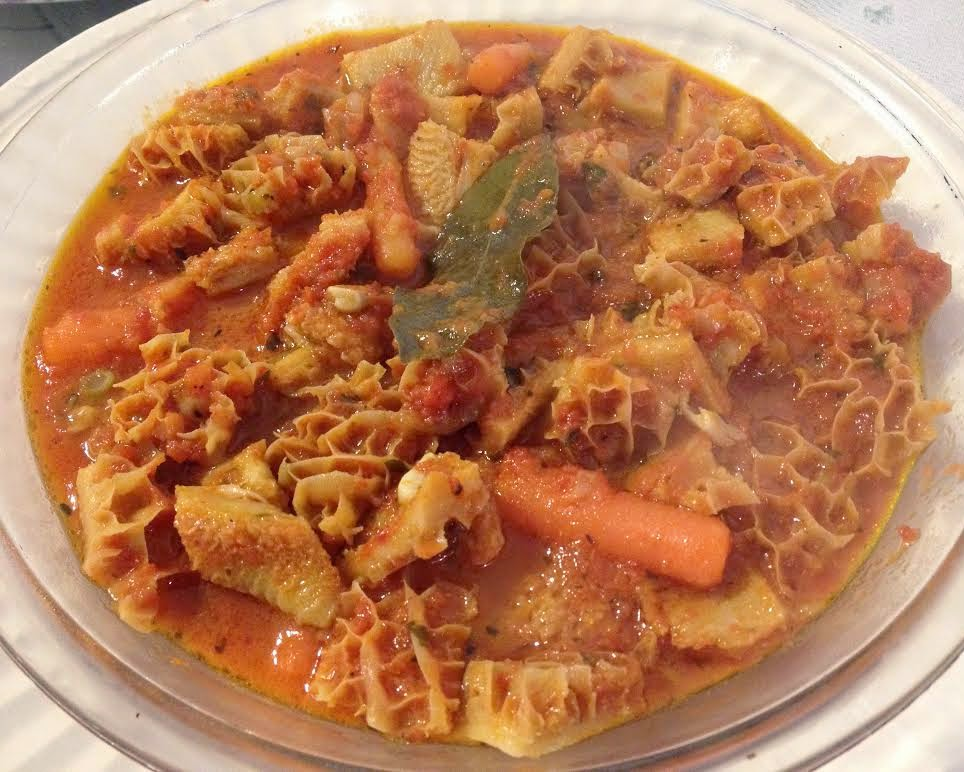 Tripe Di Calabria or Trippa con patate (Tripe and potatoes)