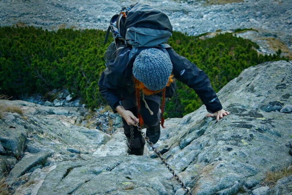 Podejście do Doliny Dzikiej - łańcuchy