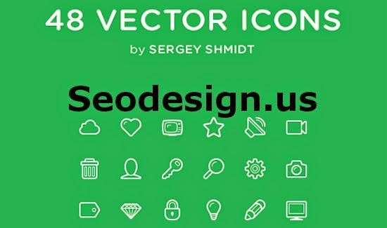 48 Free Web Tools Vector Icons (PSD, AI, CSS)