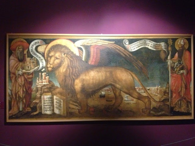 Painting of the Lion of St Mark by Donato Veneziano in Palazzo Ducale, Venice.