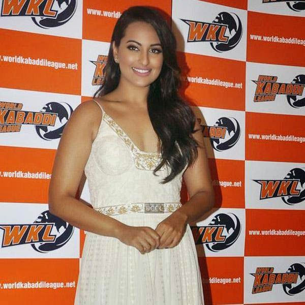 Sonakshi Sinha poses during a press meet to announce her association with World Kabaddi League (WKL), held at hotel Novotel, on July 16, 2014.(Pic: Viral Bhayani)