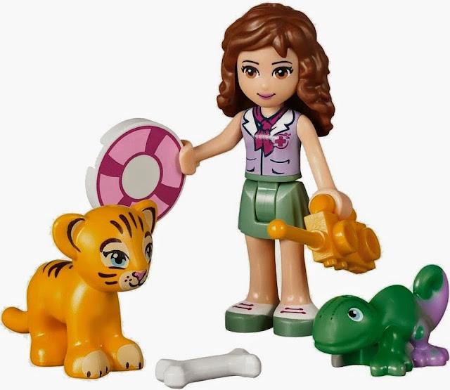 Đồ chơi xếp hình Lego Friends 41033 Cứu Hộ Tại Thác Nước gồm nhân vật chính Olivia và các bạn thú xinh xắn đáng yêu