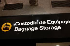 Santiago Airport Left Luggage