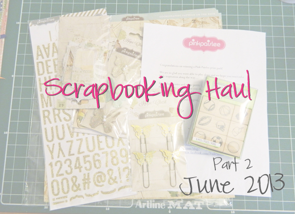 scrapbooking haul video pink paislee inkadinkado stamps papers
