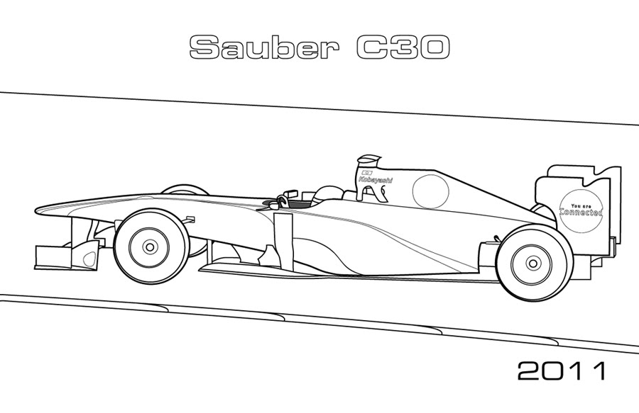 Modern F1 Cars Car Coloring Pages