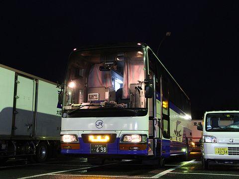 中国JRバス「鹿児島ドリーム広島号」 641-4909 吉松PAにて
