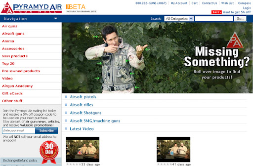 new pyramyd air website, airsoft guns, pyramyd airsoft blog, airsoft news,