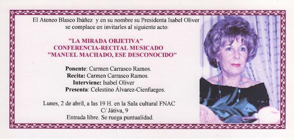 'La Mirada Objetiva' Conferencia-recital musicado 'Manuel Machado, ese desconocido'