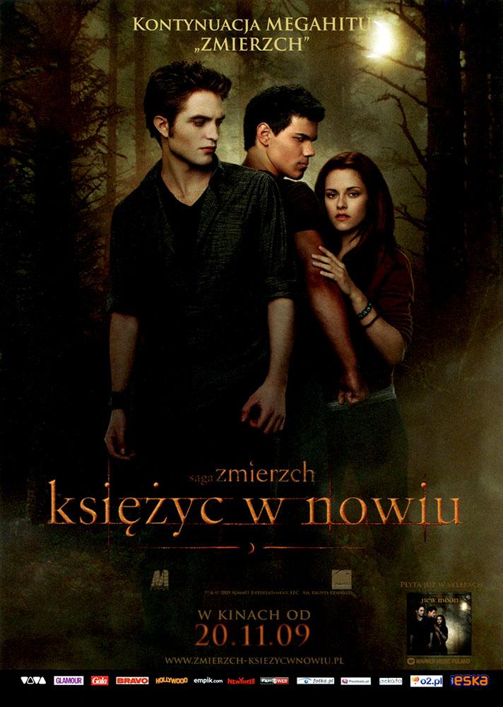 Ulotka filmu 'Saga Zmierzch: Księżyc W Nowiu (przód)'
