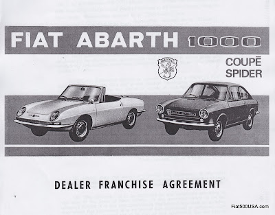 Fiat Abarth Franchise Agreement