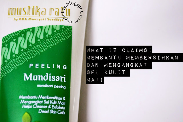 Lunatic Vixen: Review: Mustika Ratu Peeling Mundisari & Krem Masker ...