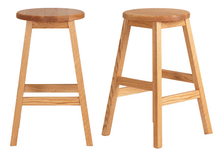 Simple Barstool in Oil & Wax Oak