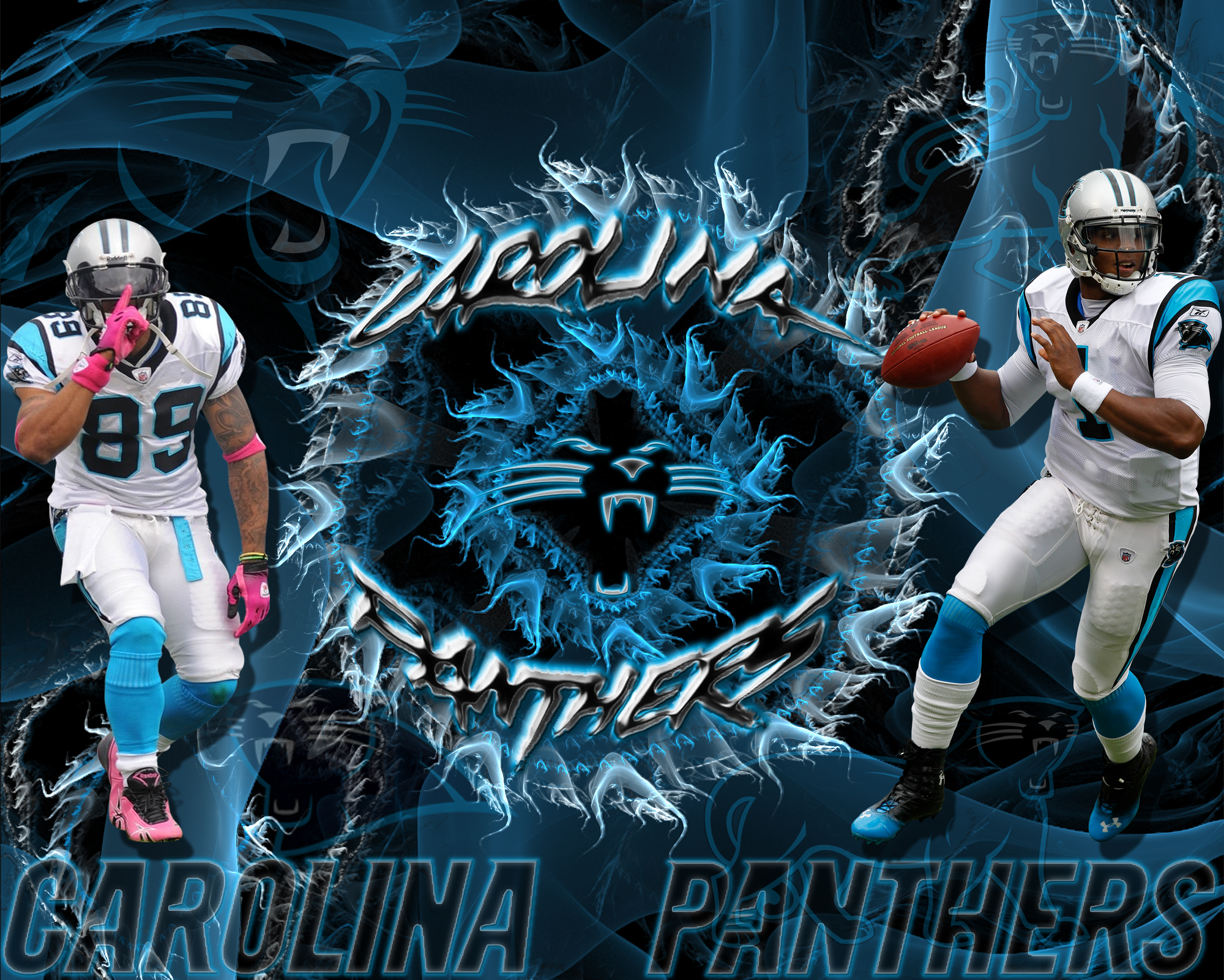 Wallpapers by wicked shadows carolina panthers steve - Carolina panthers wallpaper cam newton ...