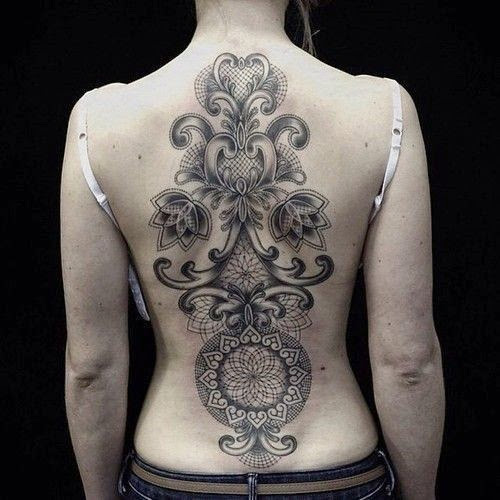full back unique tattoos for girls