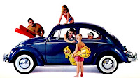 Vintage air-cooled Volkswagen Beetle