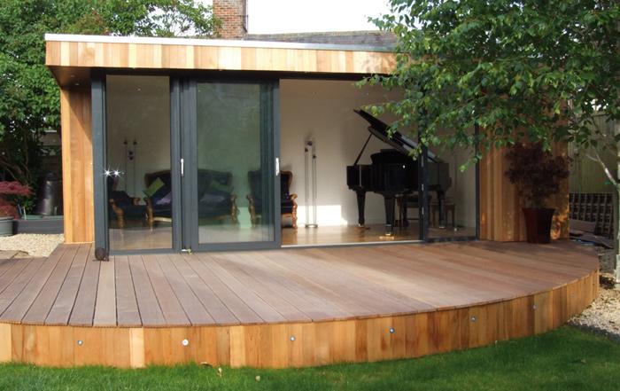 Shedworking garden office music studios for Garden studio designs